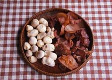 Jew s Ear Mushroom and straw mushrooms Stock Photo