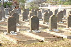 Jew tombstones, St Martin, Mauritius. Image showing the tombstones of World War II Jew prisoners deported to Mauritius. Editorial use only Stock Photos
