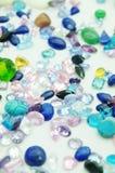 Jewel. Precious jewel stones in an outlay stock photos
