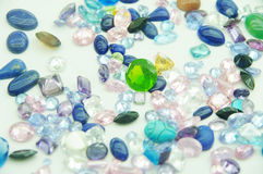 Jewel. Precious jewel stones in an outlay stock photography