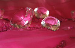 Jewel. Diamonds on the pink Stock Photography