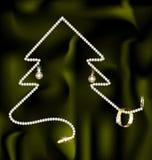 Jewel And Christmas Tree Stock Photo