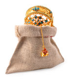 Jewel bag. On white background Stock Images