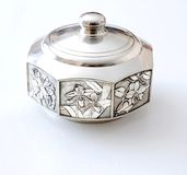 Jewel box. To keep in pewter Stock Photos