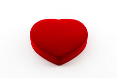 Jewel box red heart shaped gift box. Royalty Free Stock Photography
