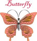 Jewel butterfly. vector Stock Image