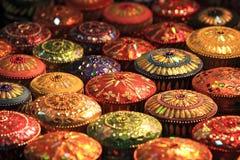 Jewel Case. Thai Silk jewel case displayed in the night market stock photography