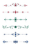 Jewel dividers Stock Images
