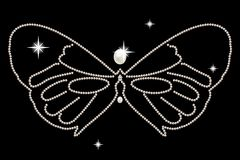 Jewel figurine butterfly decorated with white pearls Stock Image