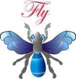 Jewel fly. vector Stock Photo