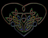 Jewel heart in celtic style Stock Images