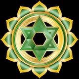 Jewel Medallion like Hindu Chakra of Anahata Stock Photo