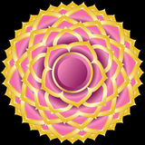 Jewel Medallion like Hindu Chakra of Sahasrara Royalty Free Stock Photos