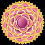 Jewel Medallion like Hindu Chakra of Sahasrara Royalty Free Stock Photos