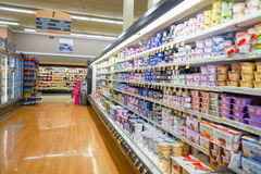 Jewel-Osco. CHICAGO, IL - CIRCA MARCH, 2016: inside Jewel-Osco store. Jewel-Osco is a supermarket chain headquartered in Itasca, Illinois, a Chicago suburb royalty free stock images