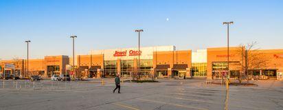 A Jewel Osco employee arrives to start work. In Orland Park, Illinois Royalty Free Stock Photo