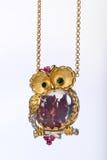 Jewel. Owl Stock Photo