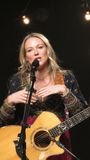 Jewel Performed Some Of Her Greatest Hits For iHeartRadio Live In New York. February 5th 2013, iHeartRadio hosted a private show featuring a live performance by Royalty Free Stock Photo