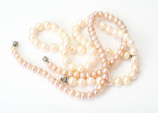 Jewel of pink pearls. Studio Photor Royalty Free Stock Image