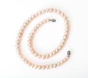 Jewel of pink pearls. Studio Photor Royalty Free Stock Photos