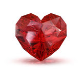 Jewel in the shape of heart. Red jewel in the shape of heart Stock Photography