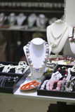 Jewel shop stand by the window Stock Photo
