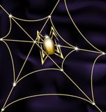 Jewel spider and web Stock Images