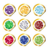 Jewel stickers Royalty Free Stock Photos