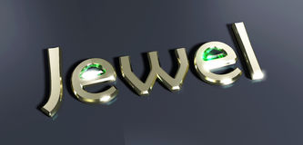 Jewel. Symbol written in gold stock illustration
