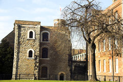 Jewel Tower (London). The Jewel Tower opposite The Houses Of Parliament was built in 1366 to house Edward 111's jewels and treasures, it is now a museum Royalty Free Stock Image