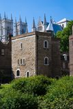 The Jewel Tower and Westminster Abbey Royalty Free Stock Photo