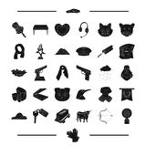 Jewel, weapon, animal and other web icon in black style. travel, taxi, mine, symbol icons in set collection. Royalty Free Stock Photo