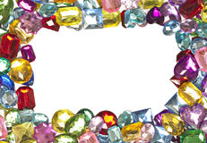 Jeweled Border. A jeweled border around a blank white center Stock Photo