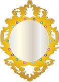 Jeweled Framed Mirror Royalty Free Stock Images