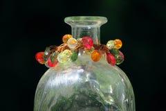 Jeweled Glasvase stockbilder