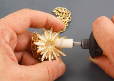 jeweler εργαζόμενος Στοκ Εικόνες