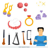 Jeweler equipment and products Royalty Free Stock Images