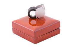 Jeweler loupe Stock Images