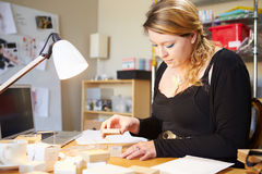 Jeweler Preparing Orders For Dispatch Stock Images