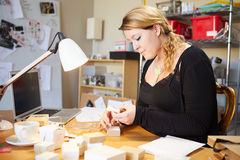 Jeweler Preparing Orders For Dispatch Royalty Free Stock Images