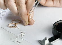 The jeweler Stock Photography