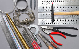 jeweler tools background royalty free stock photography