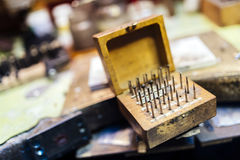 Jewelers' tools Stock Images