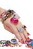 jewelery χεριών Στοκ εικόνα με δικαίωμα ελεύθερης χρήσης