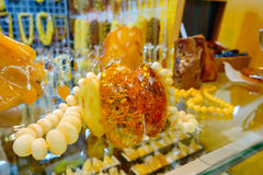 Jewelery from the Baltic amber Stock Photography