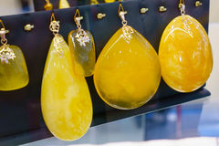 Jewelery from the Baltic amber Royalty Free Stock Photography