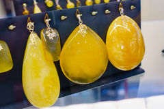 Jewelery from the Baltic amber Royalty Free Stock Photos
