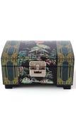 Jewelery Box. A Traditional Korea Jewelery Box,Made of Shell Pattern,Isolated on White Background stock image