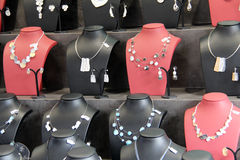 Jewelery bust. / Jewelry for sale on Stock Photo