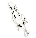 jewelery czarny elegancki srebro Obrazy Stock